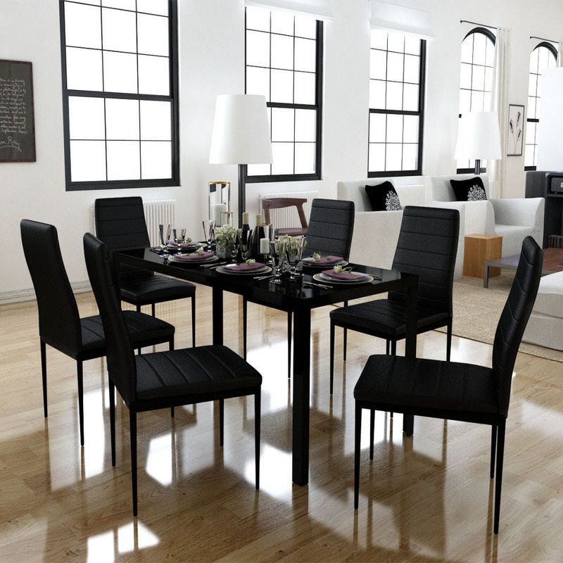 Gl Table 6 Chairs Artificial Leather