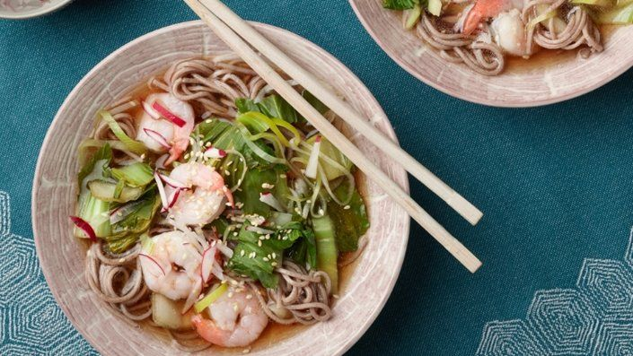 Prawn and Leek Soba Noodles
