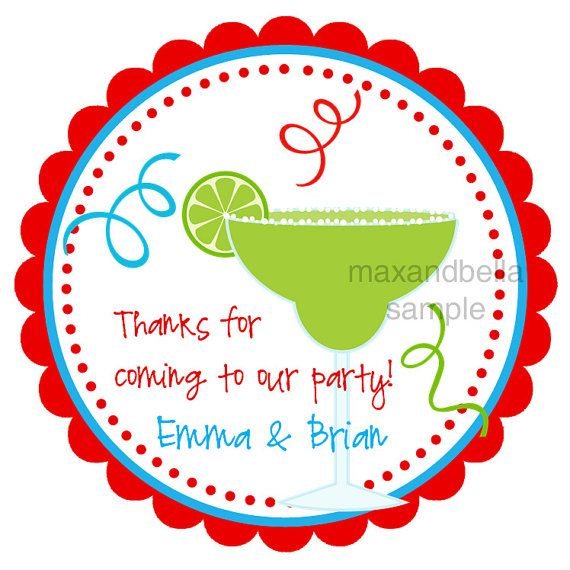 Margarita personalized stickers address labels gift by maxandbella 5 95