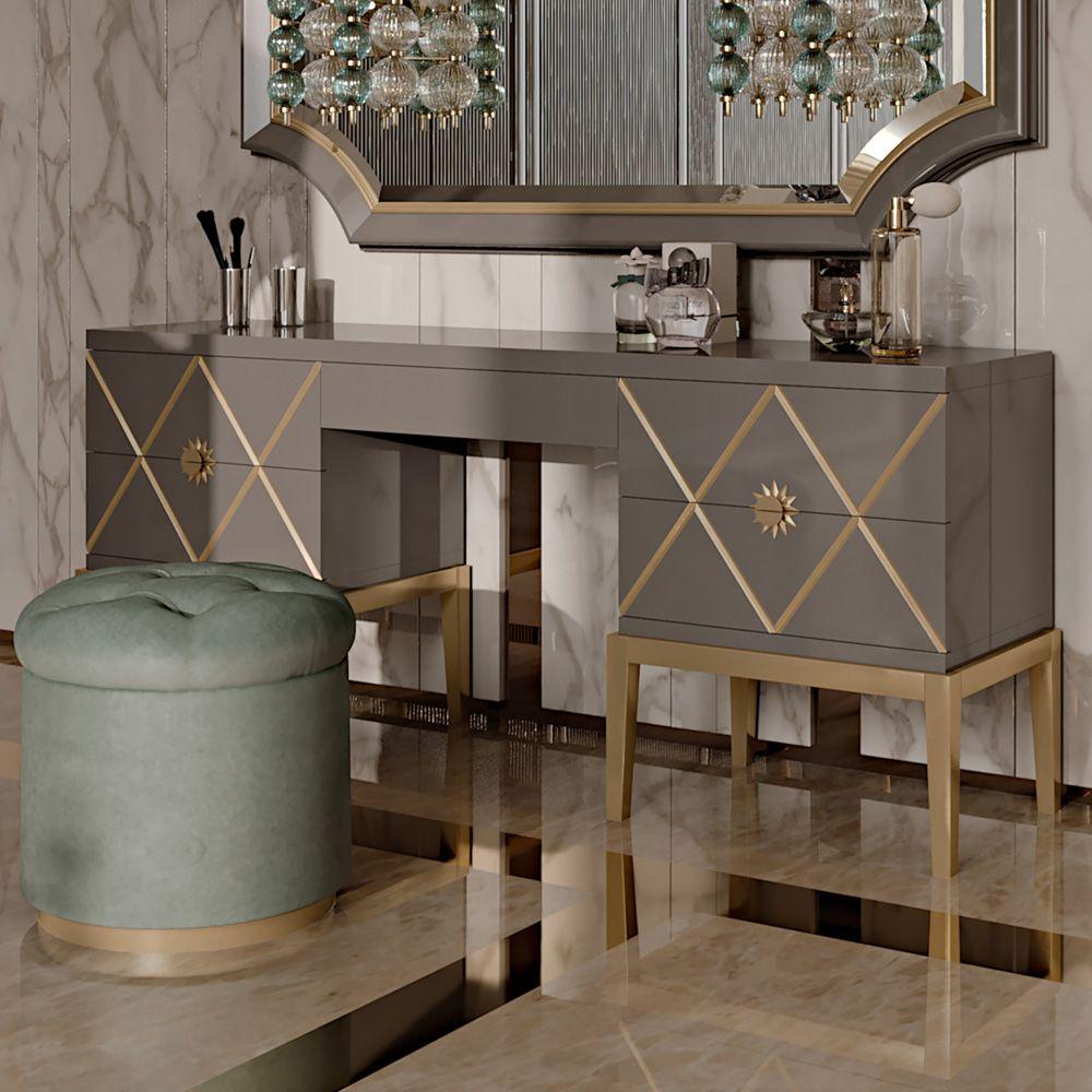 Best Art Deco Inspired Italian Designer 5 Drawer Dressing Table 400 x 300