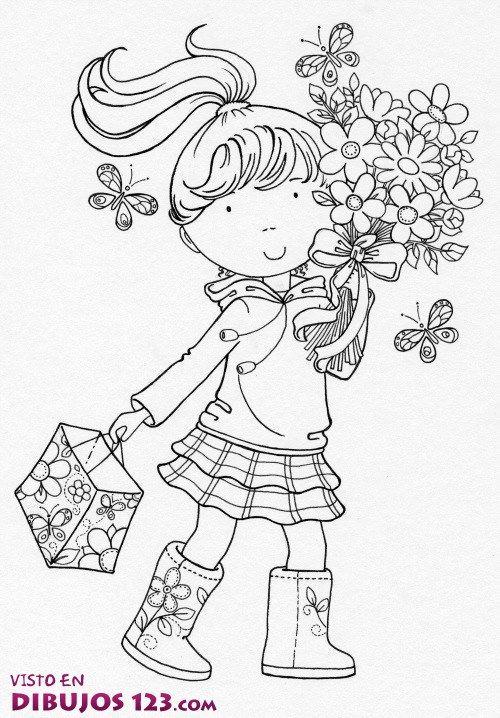 Esta niña ha ido a comprar un regalo para su madre y por el camino, se ha acercado al campo y ha visto estas flores tan bonitas. Claro que, no ha podido resistirse y las ha pillado, pero con ellas, venían varias mariposas, así que la pequeña no ha hecho el camino sola.