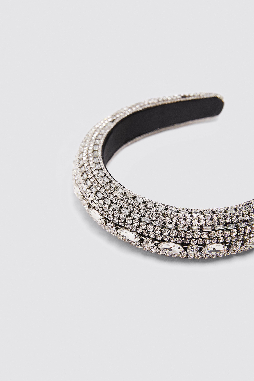 Diadema Acolchada Joya última Semana Mujer Zara México Tiara De Joias Jóias De Cabelo Tiara
