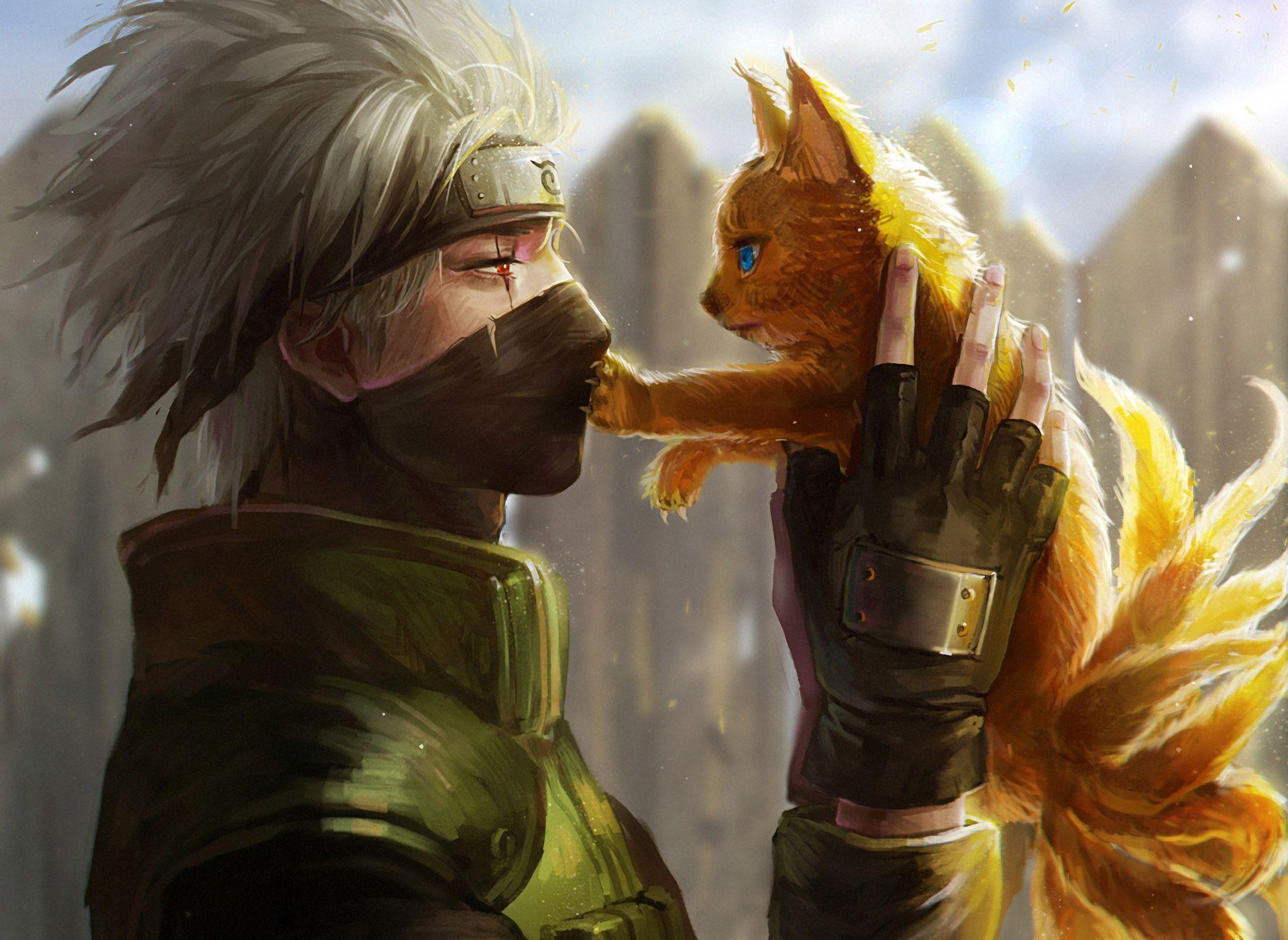 Kakashi and Cat!Naruto | Naruto characters, Naruto, Anime naruto