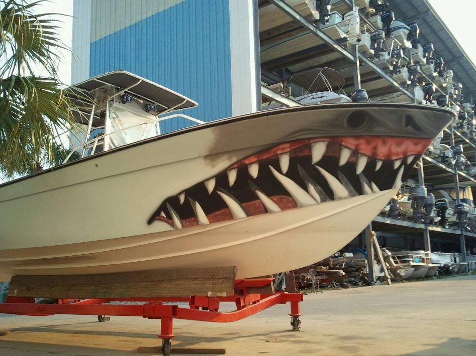 Help me find the shark boat graphics pensacola fishing for Fishing boat jobs