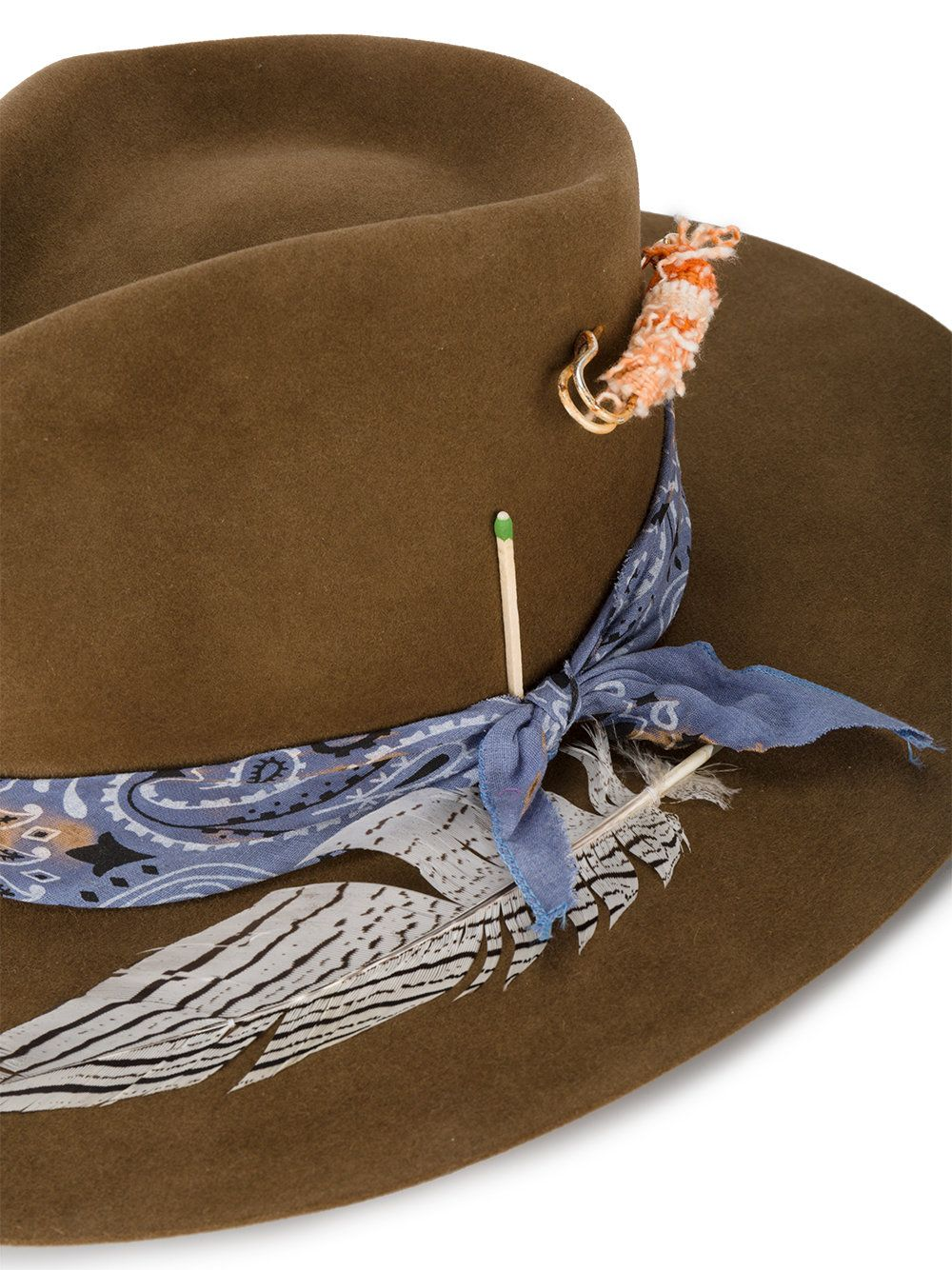 7c80cd52 Nick Fouquet Bandito feather trim hat | hats | Hats, Fedora hat ...