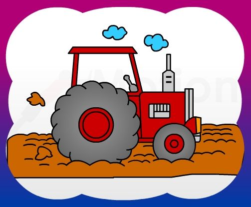 How To Draw Tractor Side For Kids Tractor Drawing Drawing For Kids Happy Paintings