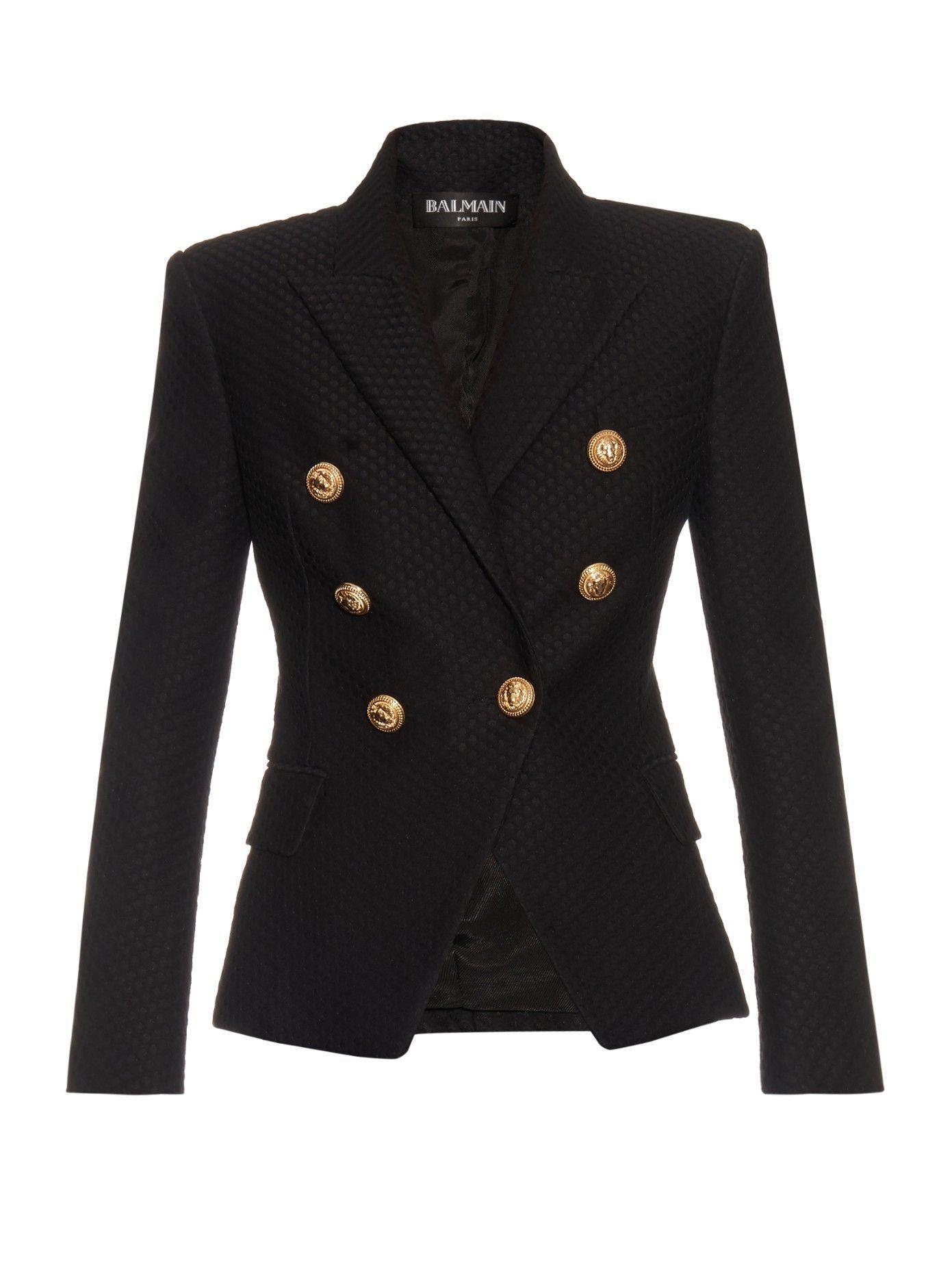 e083a550 Six-button double-breasted woven blazer | Balmain | MATCHESFASHION.COM UK