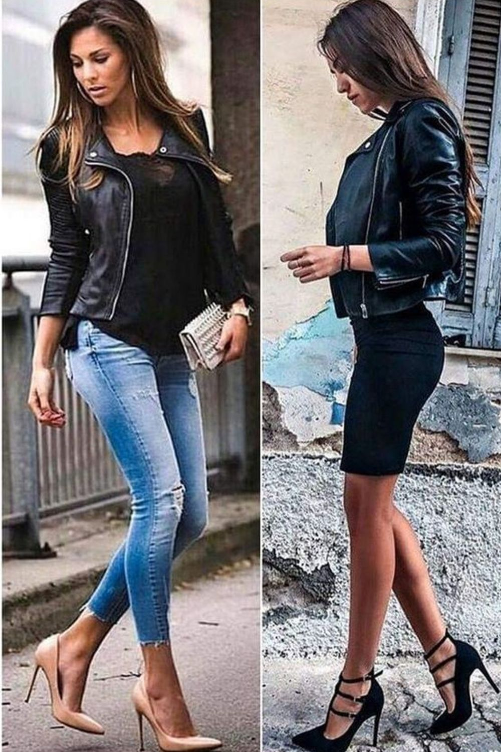 New Stylish Ladies Blue Casual Style Fashion Fitted Real Nappa Leather Jacket