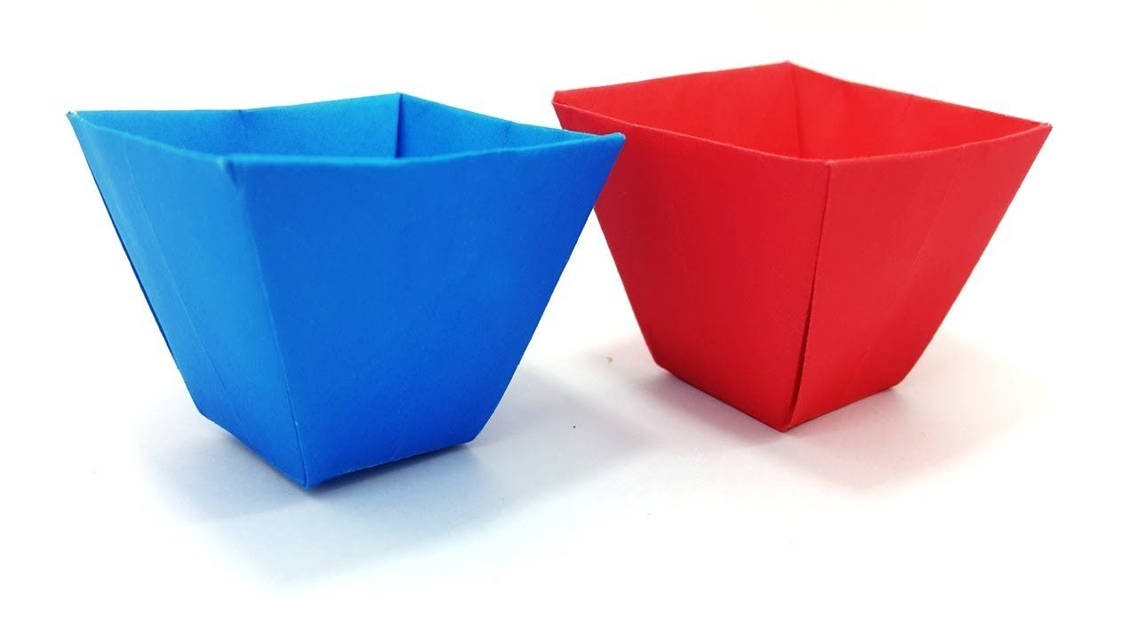 Origami Flower Pot Best Easy Learning Video Paper Flower Box Clear