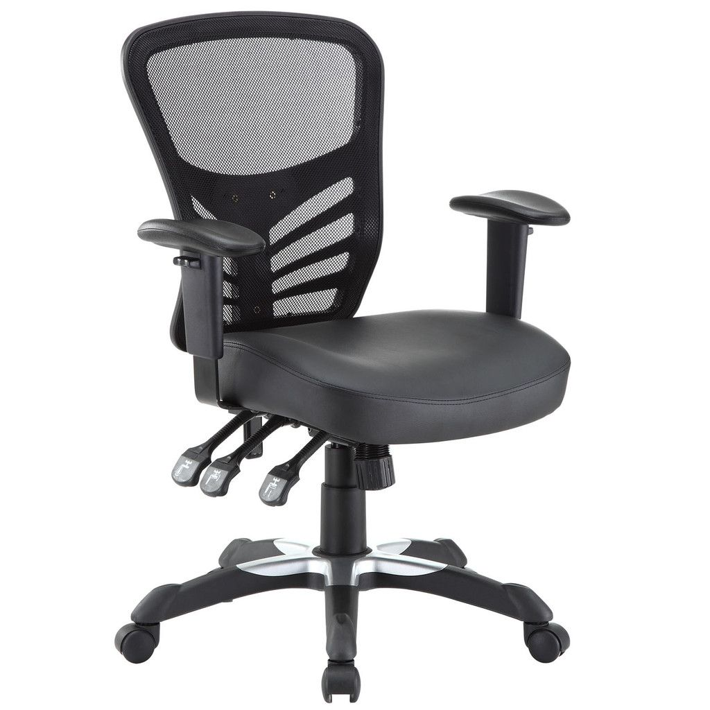 Modway Articulate Vinyl Office Chair Black Vinyl Office Chair Mesh Office Chair Black Office Chair