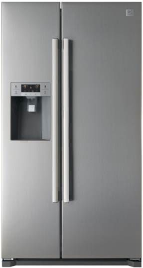Daewoo Electronics 21 5 Cu Ft Stainless Steel Side By Side Refrigerator Side By Side Refrigerator Daewoo Design Inspiration