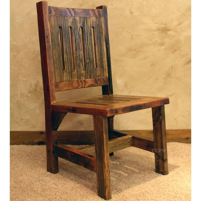 Reclaimed Wood Chairs | Black Mountain Reclaimed Rustic Dining Room Chair    NC Rustic