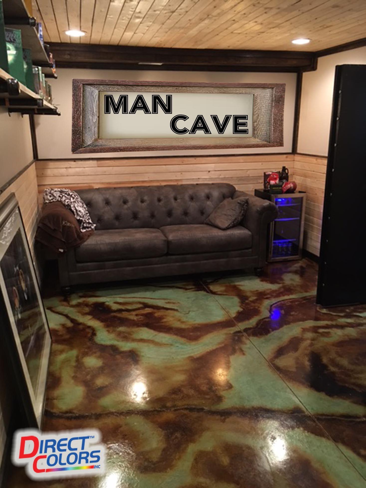 Build Your Own Man Cave Furniture : Concrete acid stain directcolors men