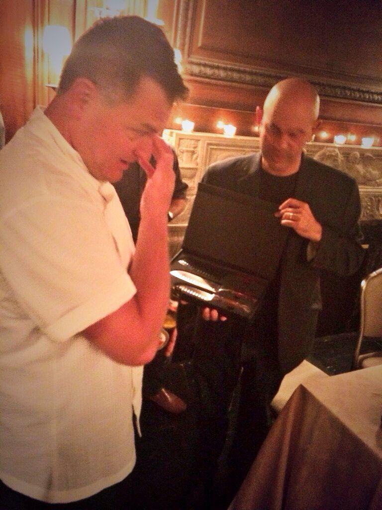 Chef Joe Arvin from Big Brother sheds a tear as Judge Simon Majumdar ...