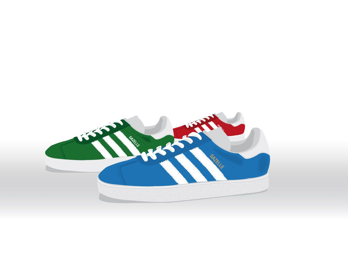 Adidas Gazelle vector Illustration