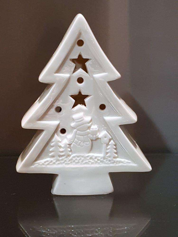 Tannenbaum Weiss Led.Led Figur Tannenbaum Weiß Edel Porzellan Weihnachten Xmas Advent