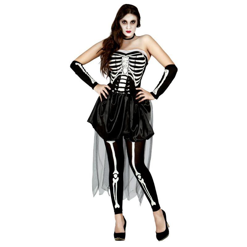 Disfraz de Mujer Esqueleto Tul - imagenes de disfraces de halloween