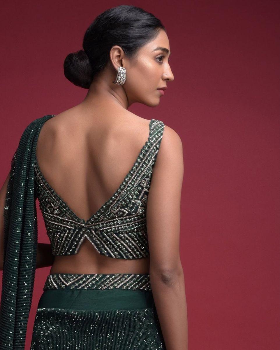 Deep blouse back design