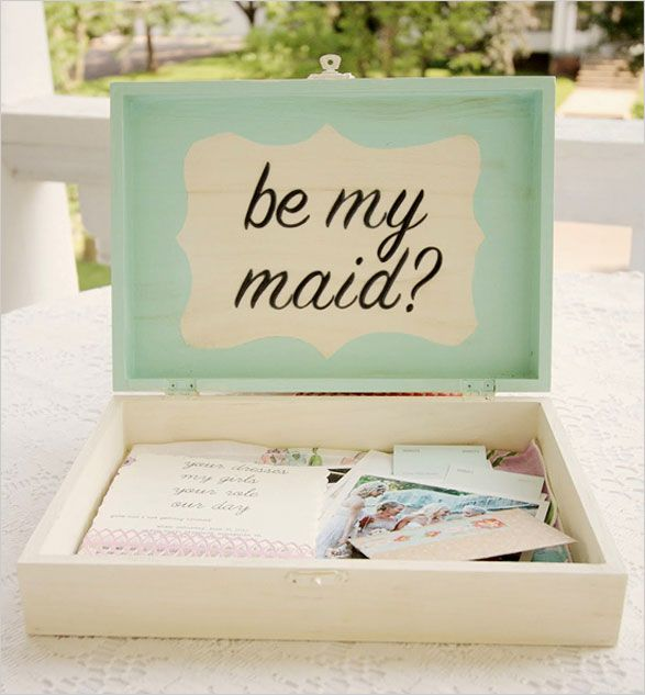 Will You Be My Bridesmaid? How to Pop the Question | Box, Weddings ...