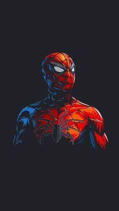 Spider Man Dark Minimalism IPhone Wallpaper - IPhone Wallpapers