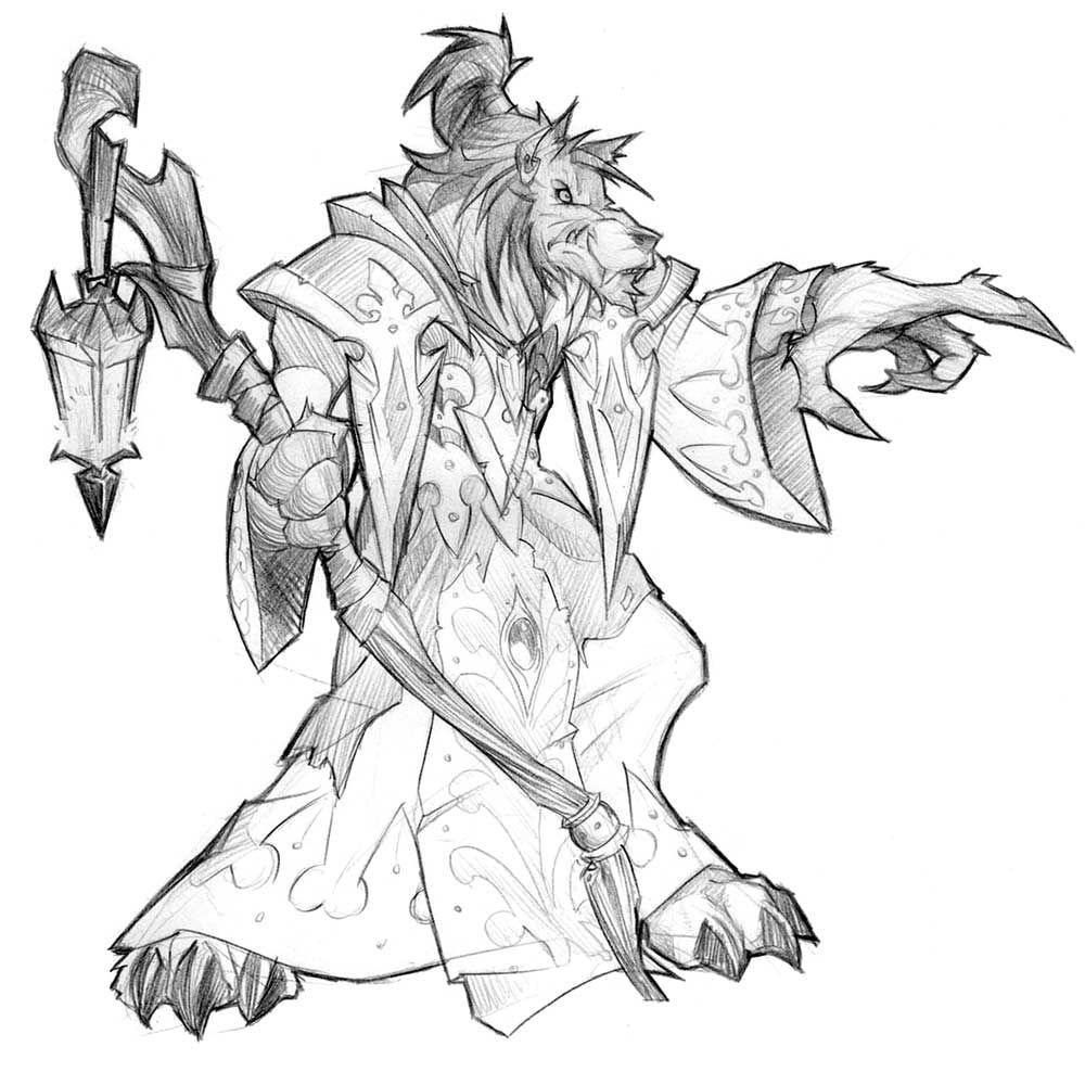 World of Warcraft: Cataclysm Art & Pictures, Worgen Sketch