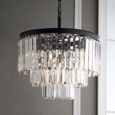 Prism glass fringe chandelier lighting pinterest chandeliers prism glass fringe chandelier mozeypictures Images