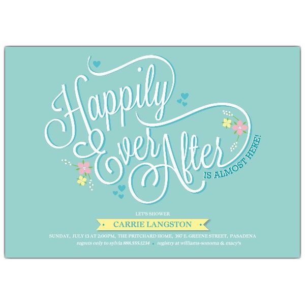 After Party Wedding Invitations: Happily Ever After Bridal Shower Invitations