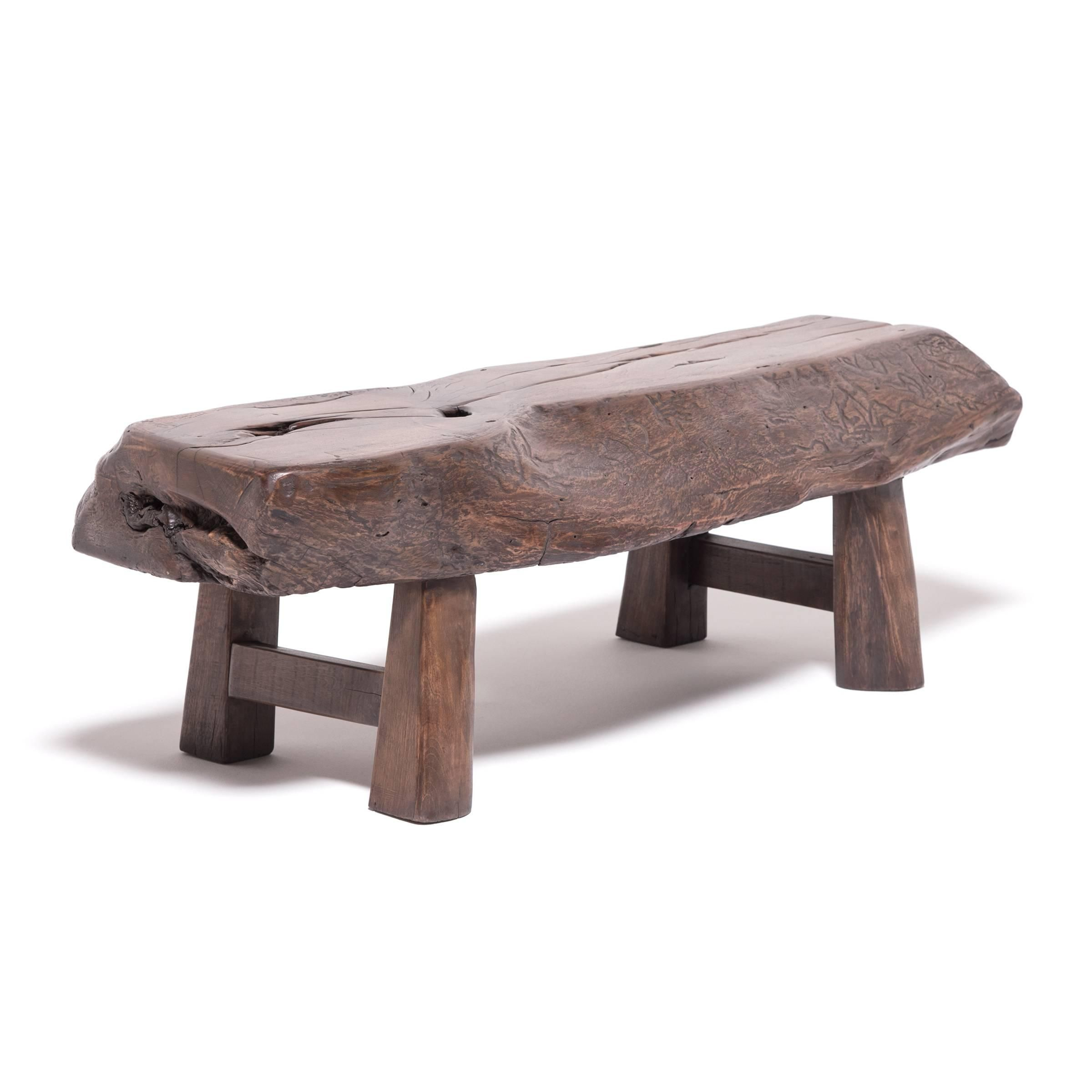 Early 20th Century Shanxi Porch Bench For Sale At 1stdibs Tree Furniture Benches For Sale Art Furniture