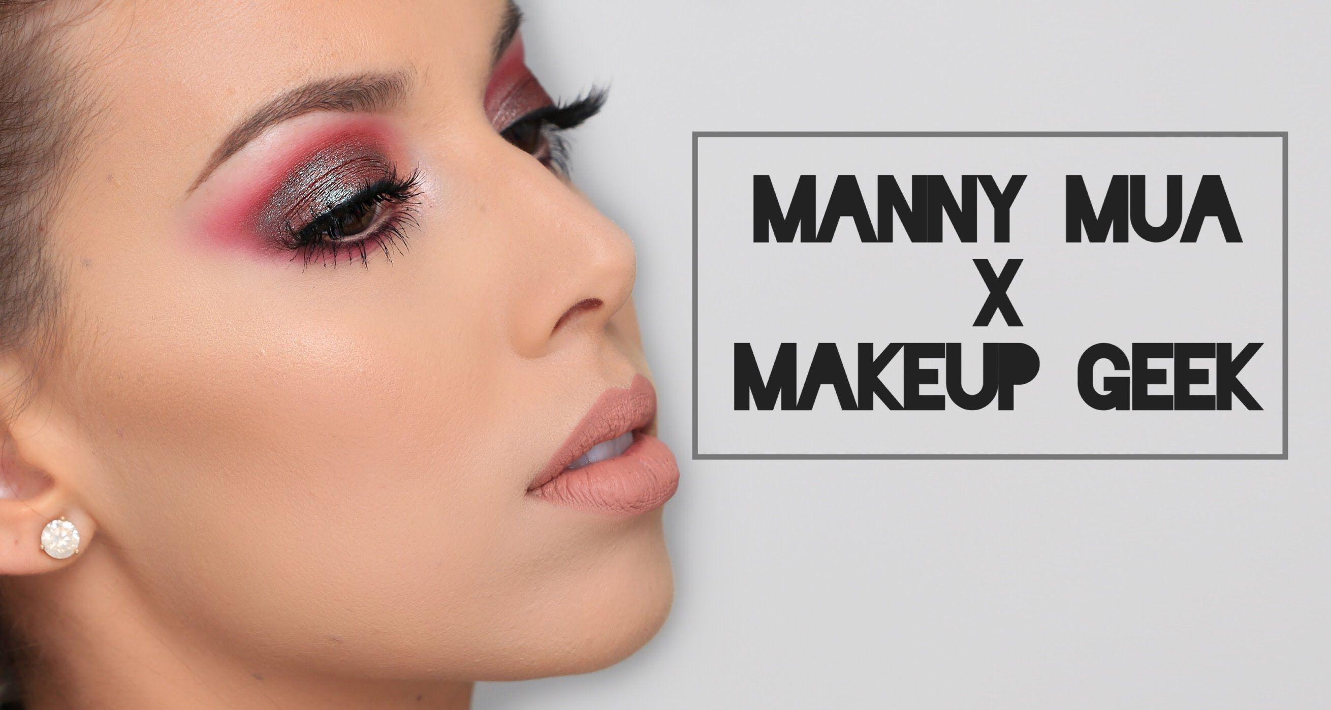Manny Mua X Makeup Geek Palette tutorial LustreLux