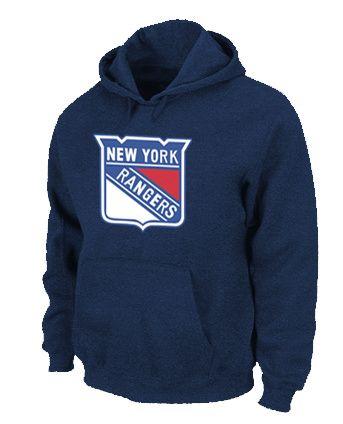 NHL New York Rangers Big & Tall Logo Pullover Hoodie - D.Blue