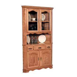 Simply Amish Classic 2 Door Open Corner China Cabinet - KCC36OCHB ...