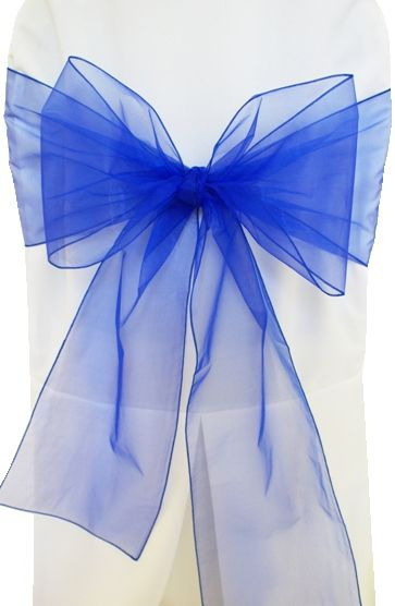 Wedding Linens Direct Com Wedding Chair Sashes Royal Blue