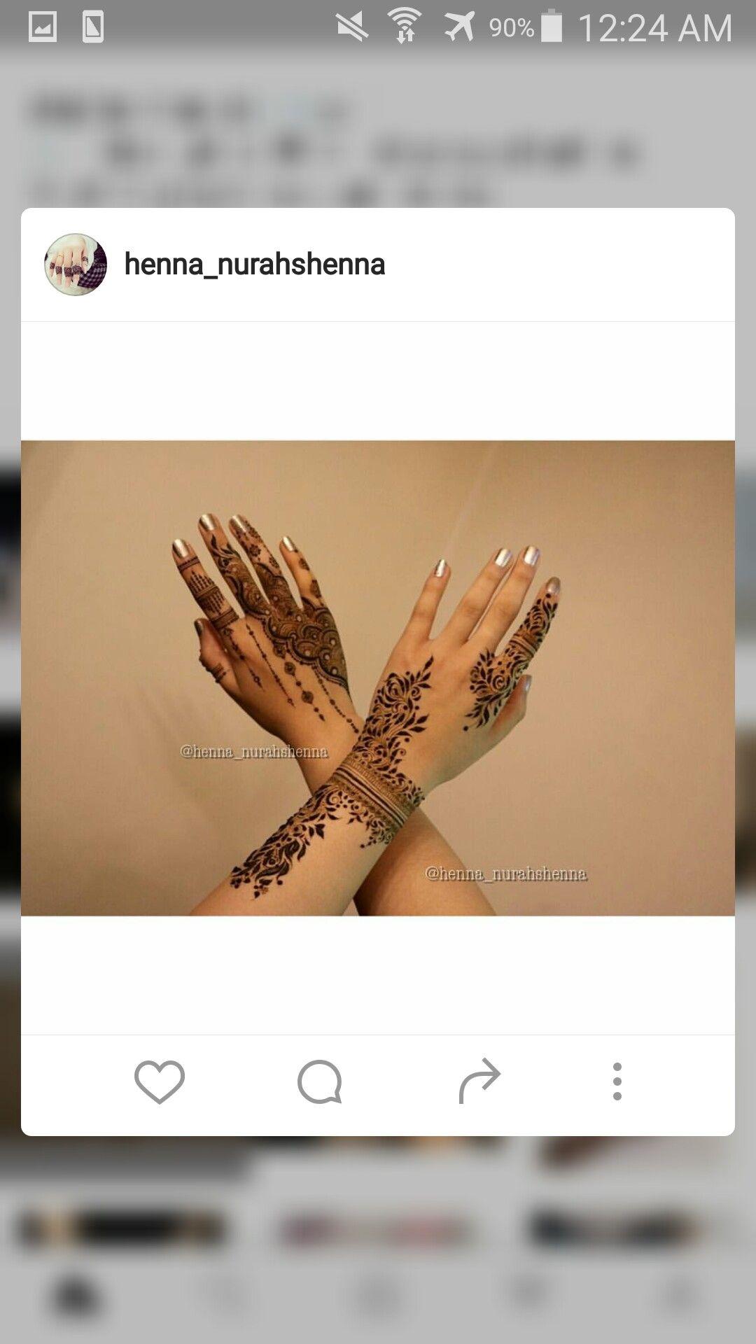 Arabic Henna Design 7ana Design Instagram Henna Pinterest
