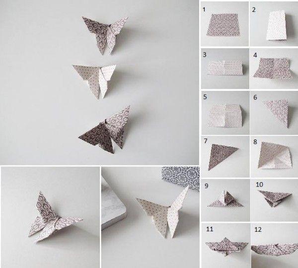 Origami Papillon Craft Pinterest Papiroflexia Sobres De Papel