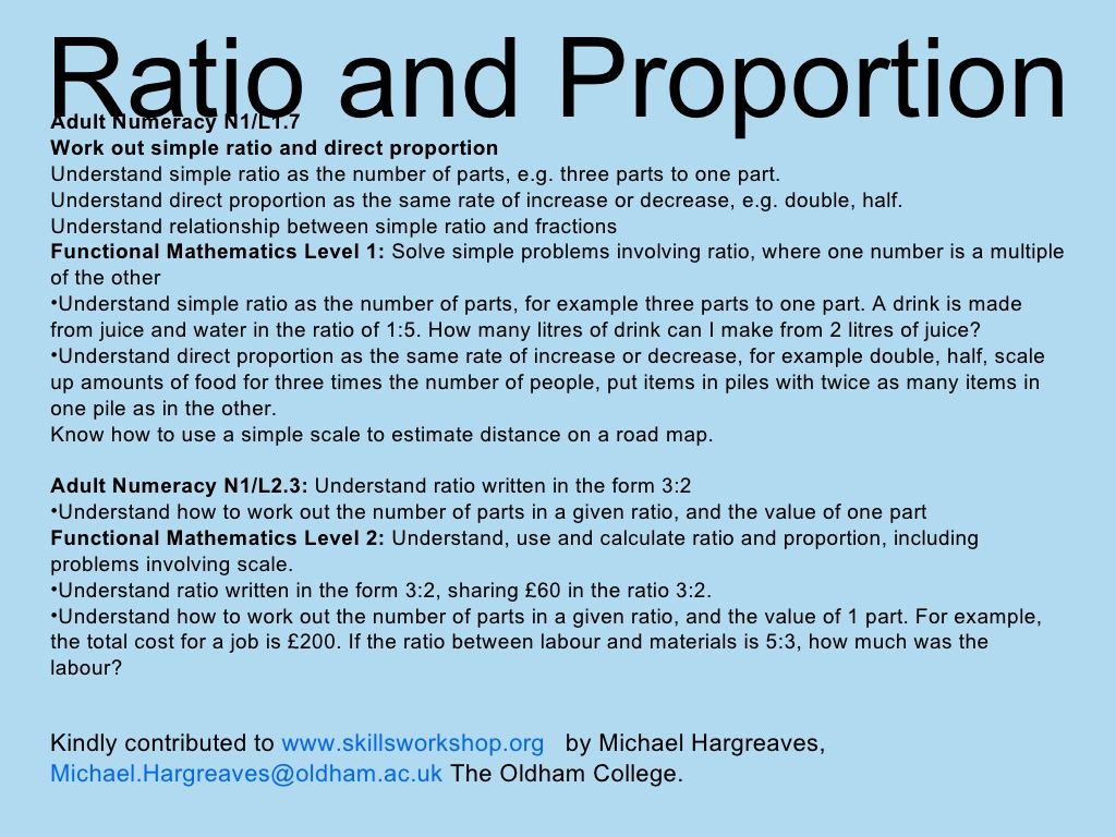 Ratio And Proportion Powerpoint By Mibial Via Slideshare
