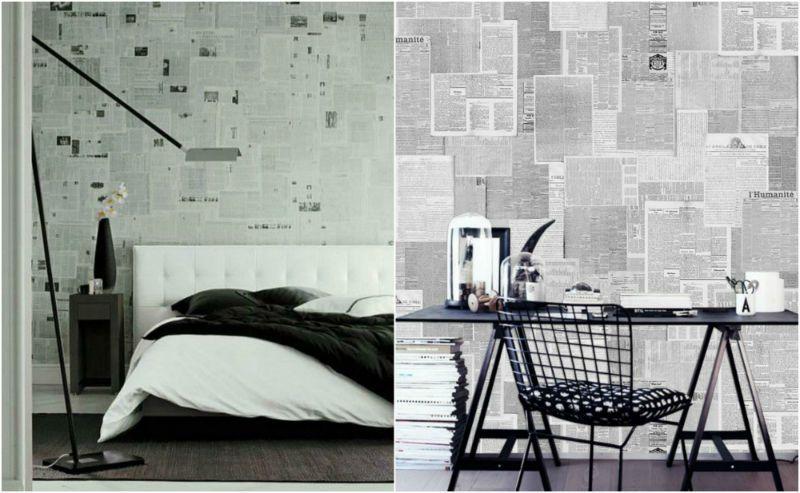 """Ταπετσαρία από εφημερίδες Για να """"ντύσετε"""" τον τοίχο σας με οικολογικό τρόπο. #jennygr"""