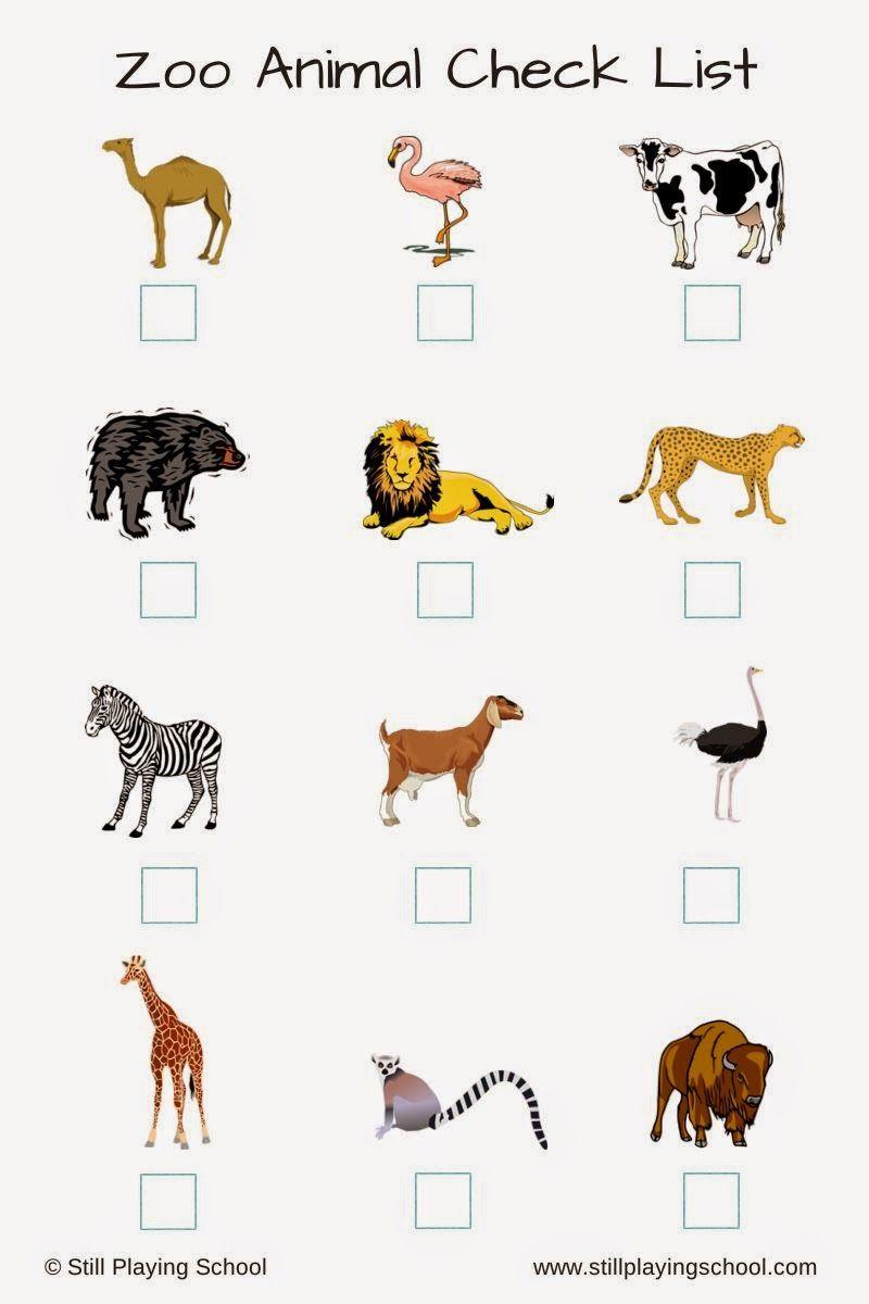 Zoo Animal Check List For Kids Zoo Scavenger Hunts Zoo Animals Kids Zoo [ 1200 x 800 Pixel ]