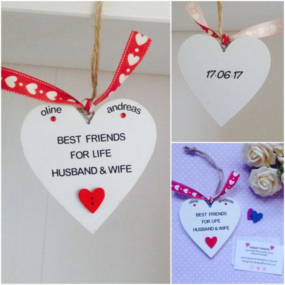 Best Friends For Life Husband U0026 Wife   Personalised Handmade Love Quotes  Plaques   Personalised Husband Gifts   Personalised Wife Gifts