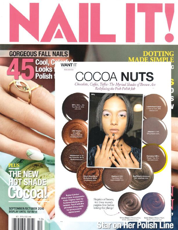 Nail IT! Magazine is going cocoa nuts for brown shades this fall ...