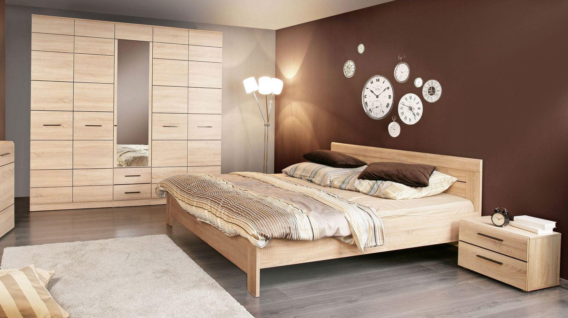Schlafzimmer Mit Bett 180 X 200 Cm Sonoma Eiche Woody 77