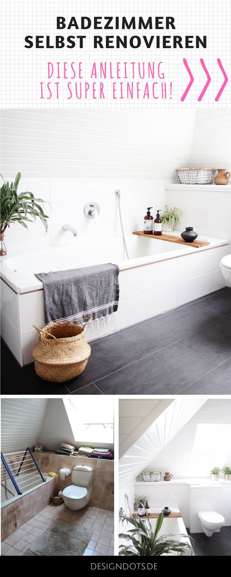 badezimmer selbst renovieren vorher nachher wohnung einrichten pinterest badezimmer. Black Bedroom Furniture Sets. Home Design Ideas