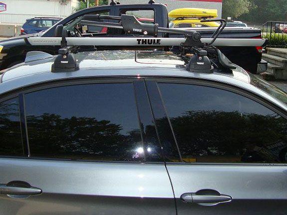 2007 BMW 3 Series 4dr Bike Roof Rack Thule 594XT Sidearm