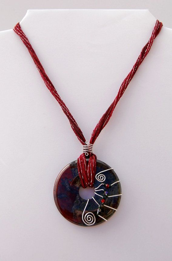 wire wrapped pendant necklaces - Google Search | Jewelry Making ...