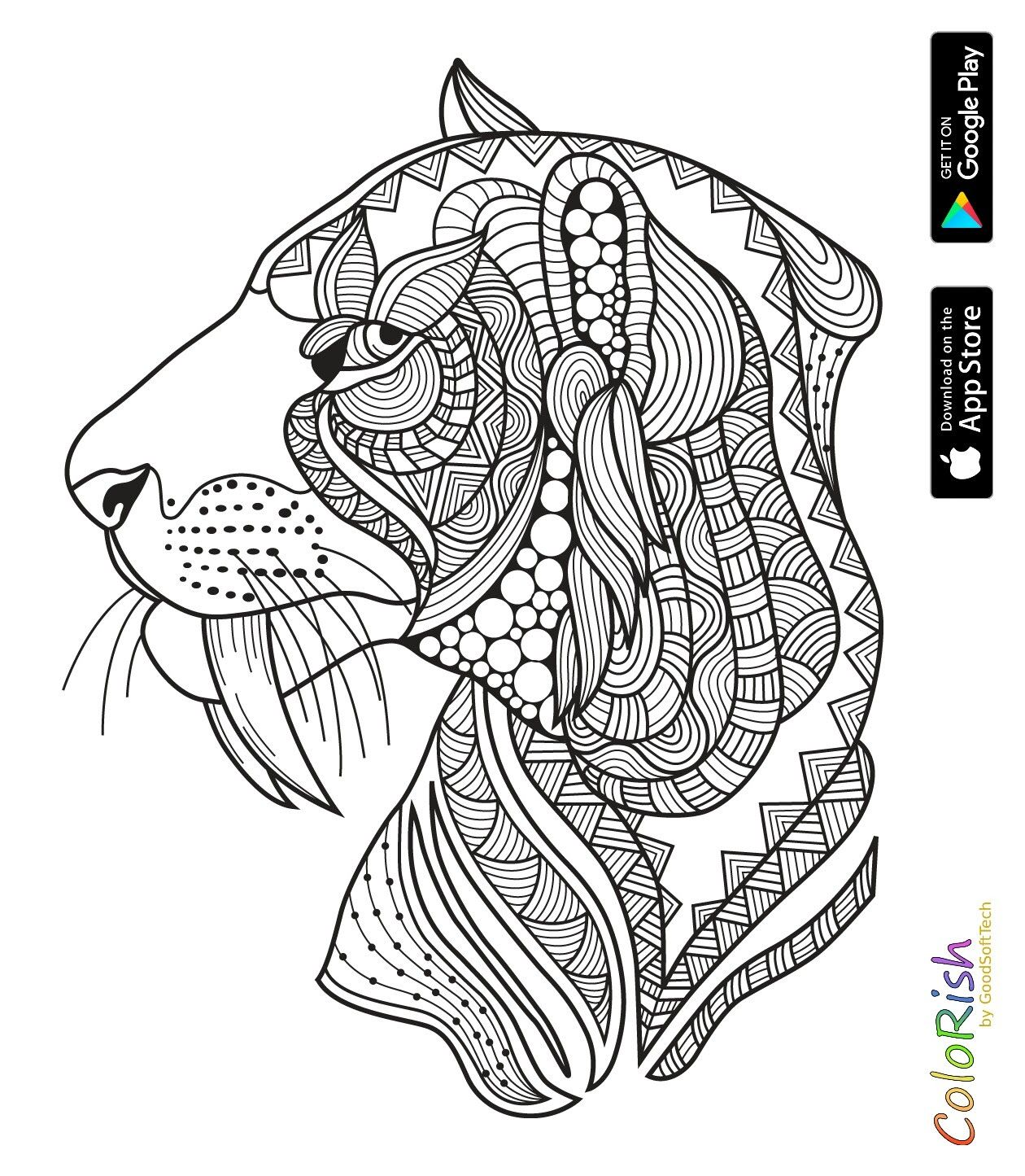 Pin by Henrickson on Animal Coloring Pages for Adults  Animal