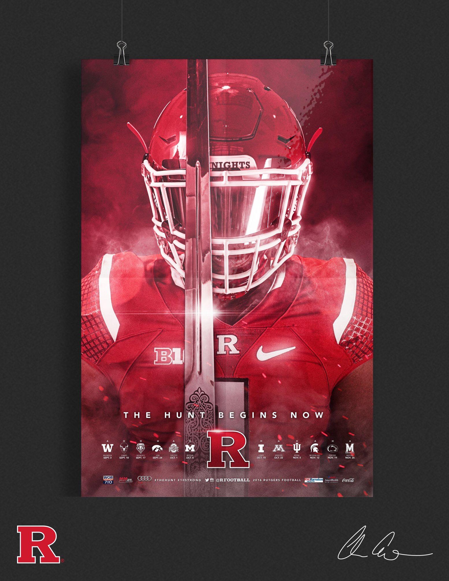 Rutgers Seasons Poster Rutgers Football Football Season