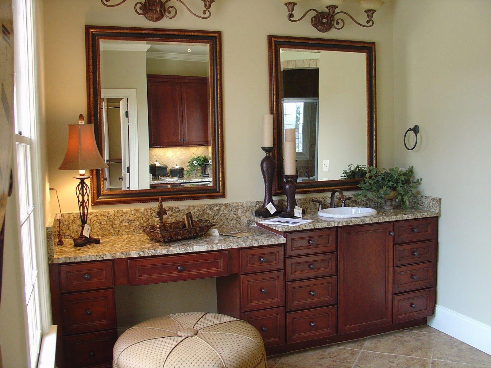 21 Elegant Master Bathroom Vanity With Makeup Area In 2020 Master Bathroom Vanity Bathroom Sink Vanity Bathroom With Makeup Vanity