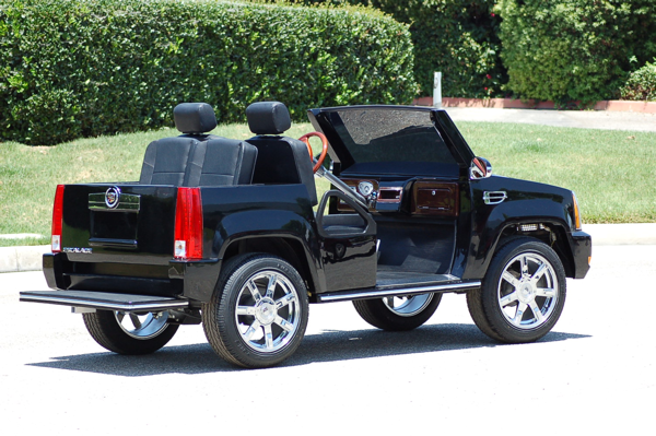 for golf luxury a custom escalade white cart limo great is cadillac carts affordable the supreme choice