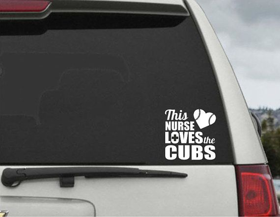 This nuse loves the cubs decal car window decal chicago cubs