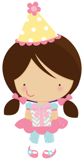 cute clipart zwd girl birthday party clipart minus cute clipart rh pinterest com birthday girl clipart black and white happy birthday girl clipart