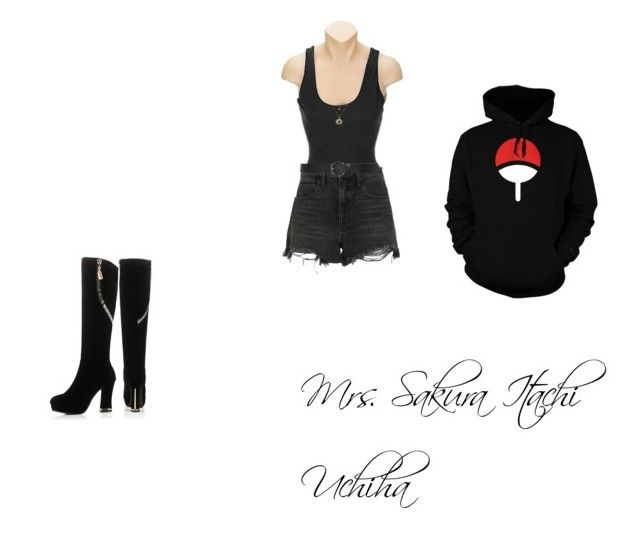 """Uchiha Style"" by shamoodah-sakura-ajam-haruno on Polyvore featuring SPANX, Alexander Wang, M&Co, JY Shoes and LC Lauren Conrad"